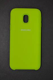 TPU + PC + MicroFiber Silicone Case for Samsung J330 / Galaxy J3 (2017) Neon Green (зеленый неон)