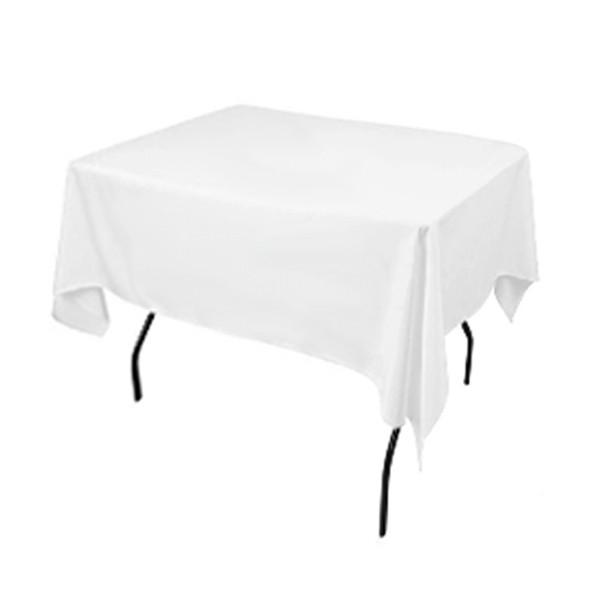 Скатертина 1,30*1,30 Біла з тканини Н-245 на стіл 0,80*0,80 Квадратна Щільна