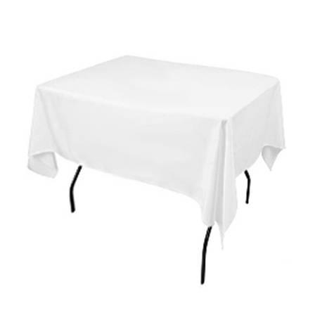 Скатертина 1,30*1,30 Біла з тканини Н-245 на стіл 0,80*0,80 Квадратна Щільна, фото 2