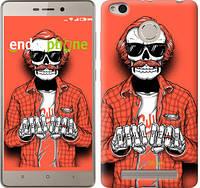 """Чехол на Xiaomi Redmi 3 Pro Скелет в очках """"4192c-341-2448"""""""