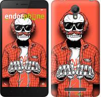 "Чехол на Xiaomi Redmi Note 2 Скелет в очках ""4192c-96-2448"""