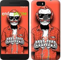 "Чехол на Huawei Nexus 6P Скелет в очках ""4192c-148-2448"""