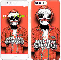 """Чехол на Huawei Honor 8 Скелет в очках """"4192c-351-2448"""""""