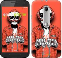 """Чехол на Motorola Moto G3 Скелет в очках """"4192c-318-2448"""""""
