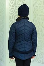 Детская демисезонная куртка с шапочкой, джинс, р.122,128,134, фото 2