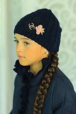 Детская демисезонная куртка с шапочкой, джинс, р.122,128,134, фото 3