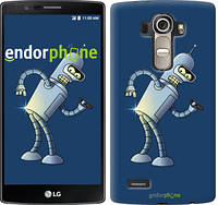 "Чехол на LG G4 H815 Футурама. Бендер ""665u-118-2448"""