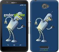 """Чехол на Sony Xperia E4 Dual Футурама. Бендер """"665c-87-2448"""""""