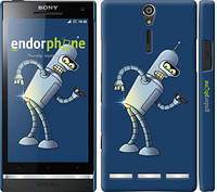 "Чехол на Sony Xperia S LT26i Футурама. Бендер ""665c-86-2448"""