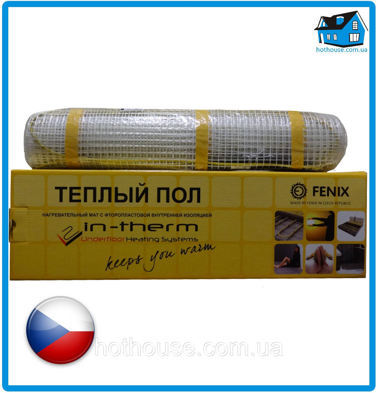 Электрический теплый пол в мате IN-THERM (IN-TERM) 170 Вт 0,8 м кв