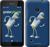 """Чехол на Nokia Lumia 530 Футурама. Бендер """"665u-205-2448"""""""