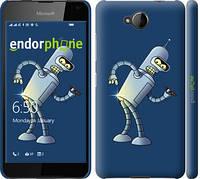 """Чехол на Nokia Lumia 650 Футурама. Бендер """"665c-393-2448"""""""