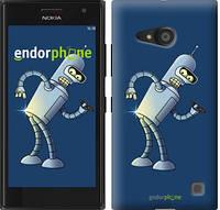 """Чехол на Nokia Lumia 730 Футурама. Бендер """"665c-204-2448"""""""