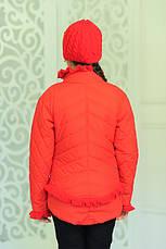 Детская демисезонная куртка с шапочкой, красная, р.122, фото 2