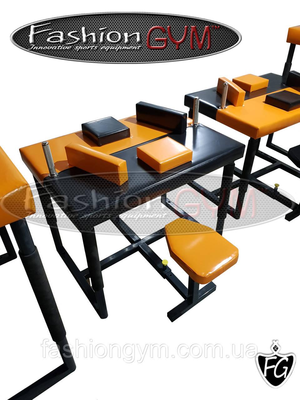 Стол для армрестлинга инвалидов колясочников, инвалидов борющихся сидя