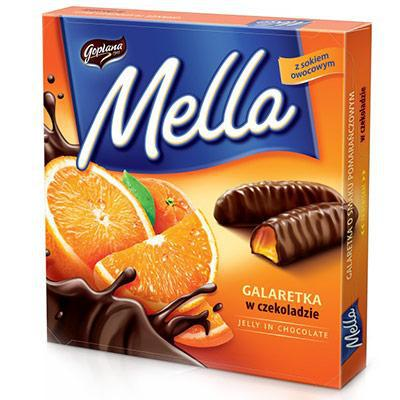 Конфеты шоколадные Galaretka Mella с апельсиновым соком Goplana Польша 190г