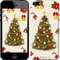 "Чехол на iPhone 5 Новогодняя елка ""4198c-18-2448"""