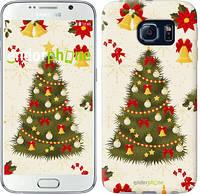 "Чехол на Samsung Galaxy S6 G920 Новогодняя елка ""4198c-80-2448"""