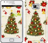 "Чехол на Samsung Galaxy S2 i9100 Новогодняя елка ""4198c-14-2448"""