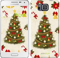 "Чехол на Samsung Galaxy Alpha G850F Новогодняя елка ""4198c-65-2448"""