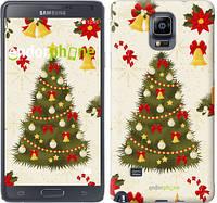"Чехол на Samsung Galaxy Note 4 N910H Новогодняя елка ""4198c-64-2448"""