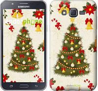 """Чехол на Samsung Galaxy J7 J700H Новогодняя елка """"4198c-101-2448"""""""