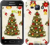 """Чехол на Samsung Galaxy J1 J100H Новогодняя елка """"4198c-104-2448"""""""