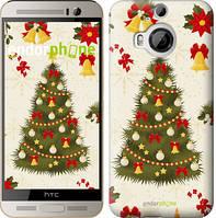 """Чехол на HTC One M9 Plus Новогодняя елка """"4198u-134-2448"""""""