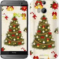 """Чехол на HTC One M8 dual sim Новогодняя елка """"4198c-55-2448"""""""