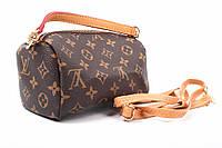 Клатч Louis Vuitton, эко-кожа, цвет коричневый, размер маленький, прямоугольная форма