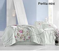 Постельное белье ранфорс Altinbasak (евро-размер) № Perlita Mint