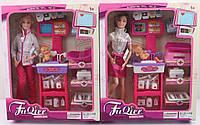 Кукла типа Барби с мебелью «Доктор»