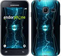 "Чехол на Samsung Galaxy J1 Mini J105H Молнии в цилиндре ""120c-258-2448"""