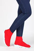Красные текстильные кеды, очень комфортные по супер ценеКрасные