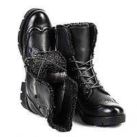 Зимние женские ботинки из кож.заменителя
