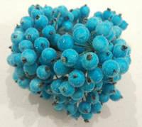 Калина декоративная светлая бирюза сахарная, соцветие из 40 ягод, диаметр ягоды 12мм, длина проволоки 12см, фото 1