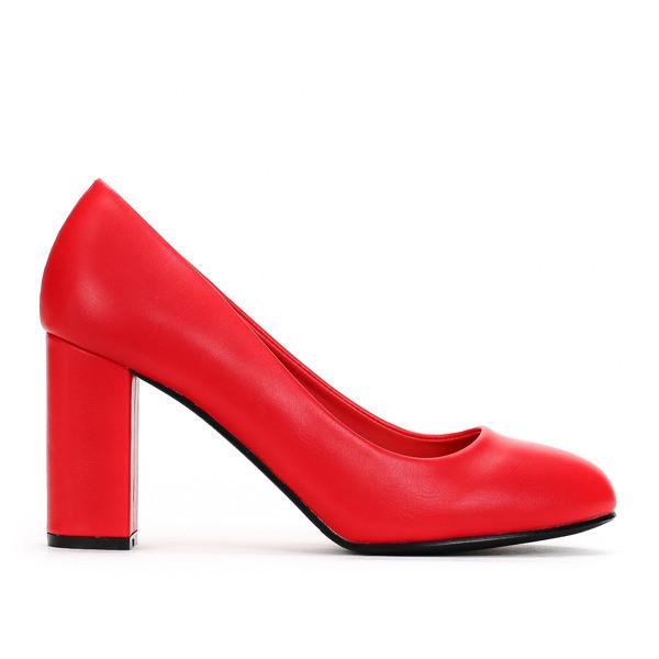 Женские красные туфли из кож.заменителя