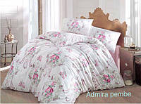 Постельное белье ранфорс Altinbasak (евро-размер) № Admira Pembe