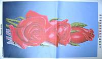 """Схема для вышивания бисером """"Красные розы""""."""