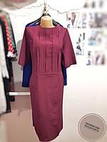 Бордовое платье со складками 52 размера