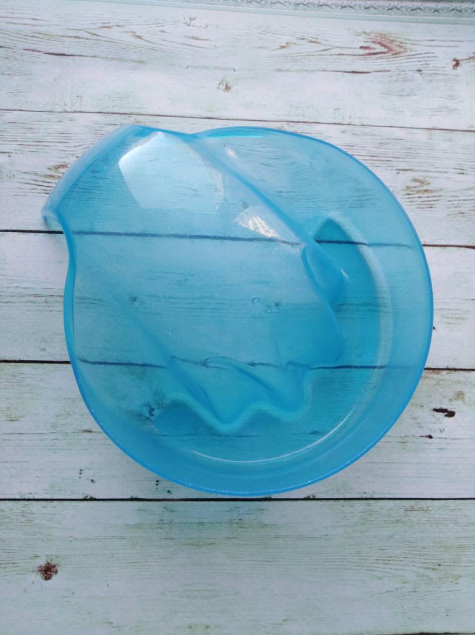 Ванночка для маникюра с ручкой, голубая