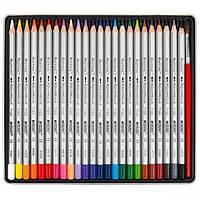 Набор акварельных карандашей Marco Raffine, 24 цв + кисть