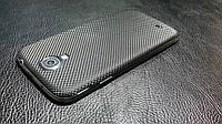 Декоративная защитная пленка для Samsung Galaxy S4 микро карбон черный, фото 1