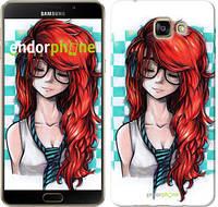 """Чехол на Samsung Galaxy A9 A9000 Рыжеволосая девушка """"1009u-107-2448"""""""