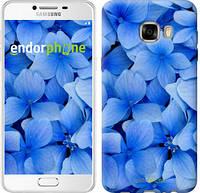 "Чехол на Samsung Galaxy C7 C7000 Синие цветы ""526u-302-2448"""