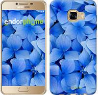 """Чехол на Samsung Galaxy C5 C5000 Синие цветы """"526c-301-2448"""""""
