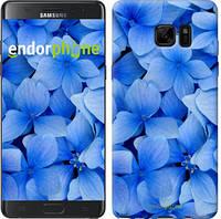 """Чехол на Samsung Galaxy Note 7 Duos N930F Синие цветы """"526u-346-2448"""""""