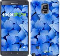 """Чехол на Samsung Galaxy Note 4 N910H Синие цветы """"526c-64-2448"""""""