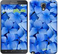 """Чехол на Samsung Galaxy Note 3 Neo N7505 Синие цветы """"526u-136-2448"""""""