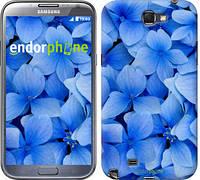 """Чехол на Samsung Galaxy Note 2 N7100 Синие цветы """"526c-17-2448"""""""